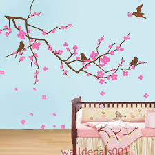 wall decals cherry blossom decal kids art baby wall art baby decal nursery girl pink floral zoom