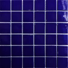 ceramic 2x2 mosaics tile blue swimming pool bathroom kitchen tiles