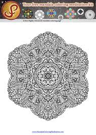 another free mandala coloring page