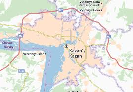 map of kazan map of kazan michelin kazan map viamichelin