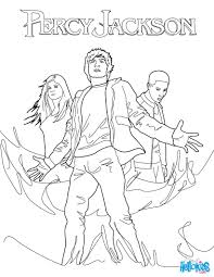 percy annabeth chase and grover underwood coloring pages