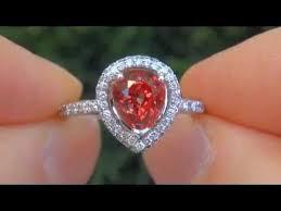 padparadscha sapphire engagement ring vvs 3 90 carat padparadscha sapphire engagement ring