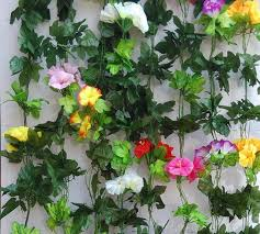 Faux Flowers Aliexpress Com Buy Artificial Fabric Morning Glory Garland Vine