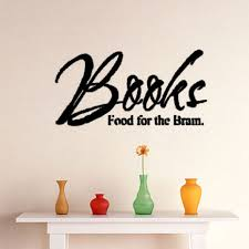 Home Letters Decoration by Aliexpress Com Buy Dctop Books Food For The Brain Plane Wall