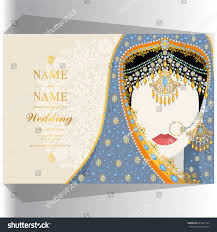 Marriage Invitation Card Sample Wedding Invitation Card Templates Woman Traditional Stock Vector