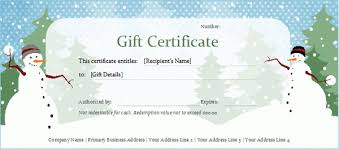christmas gift certificate template powerpoint template design