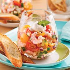 cuisine verrine tartare de tomates et crevettes en verrine recettes cuisine et