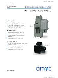 amot electro pneumatic converter actuator