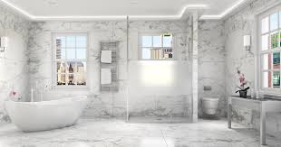 Marble Bathroom Ideas Luxury Master Bath With Tub White Marble Shower Enclosure In