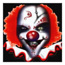 Scary Clown Meme - scary clown invitations announcements zazzle