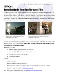 teacher workshops center for latin american studies vanderbilt