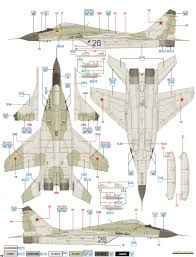 mikoyan mig 29 fulcrum soviet af camouflage color profile and