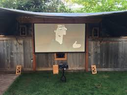 backyard theater projector home outdoor decoration