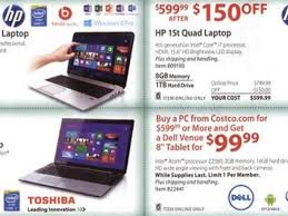 black friday deals for laptops black friday 2013 bj u0027s costco sam u0027s club deals on tablets