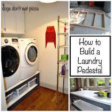 Build Washer Dryer Pedestal Stacking Washer Dryer Pedestal Washer Dryer Wood Platform Diy