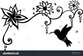 bird floral wall decal vector illustration stock vector 294867623