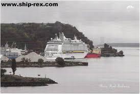 explorer of the seas royal caribbean at quebec postcard