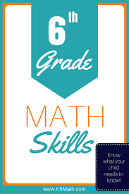 6th grade skills