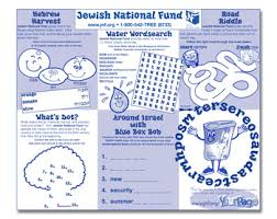 jewish national fund educational materials for schools