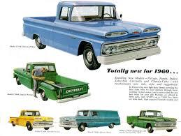 1960 chevrolet truck foldout 04 chevy gmc truck ads pinterest