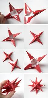 How To Make Barn Stars Diy 3d Paper Star Christmas Decorations Paper Stars 3d Paper