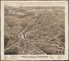 Bird View Map File Birds Eye View Of Great Falls Strafford Co New Hampshire