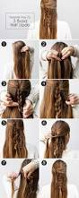 boho braid how to create an effortlessly chic half updo more com