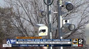baltimore red light camera city to vote on speed red light camera program youtube