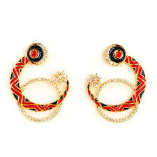 earrings online crescent chandbali earrings online klaiv