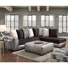 gray sectional with ottoman shimmer pewter microfiber silver grey sectional sofa and ottoman