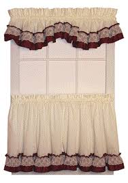 Ruffled Kitchen Curtains Country Kitchen Curtains Free Home Decor Techhungry Us