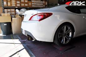 hyundai genesis 2 ark n ii exhaust system for hyundai genesis coupe 2 0t sm0702 0101s