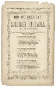 bid me bid me bye or the soldier s farewell bsvg100063 american