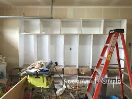 diy garage mudroom lockers with lots of storage keeping it