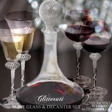wine sets luxurious wedding accessories chagne flutes cake sets