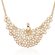 bib necklace designs images Lzhlq exquisite rhinestones peacock necklaces pendants fashion jpg