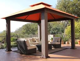 Wood Gazebo Design by Distinctive Wooden Canopy For 10x10 Gazebo Design Home Ideas