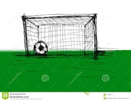 soccer ball and gate stock illustration image of single 14387517