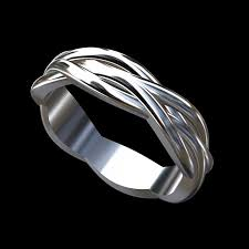 infinity wedding rings white gold modern twisted shank infinity men s wedding ring 6mm