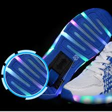 led light up shoes for boys kids wheels shoes glowing sneakers with led light up kids roller