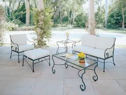 Patio Furniture Chair Cushions by Outdoor Wrought Iron Chair Cushions Home Design