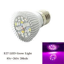 hydroponic led grow lights 1pcs e27 18w 28w led grow light full spectrum ac85 265v leds