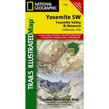 Great Smoky Mountains National Park Map 306 Yosemite Sw Yosemite Valley And Wawona Trail Map National
