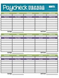 7 best images of weekly home money worksheets printable free