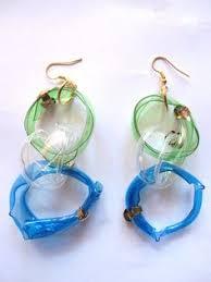 plastic bottle earrings recycled plastic bottle earrings jewelry