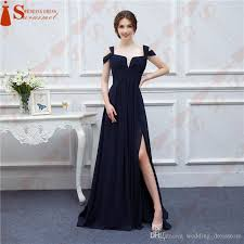 bariano dresses bariano navy blue color chiffon events party dresses v