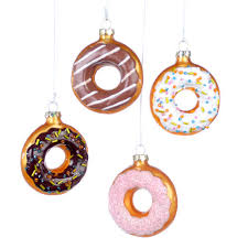 glass donut ornament yolk