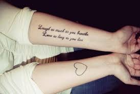quote tattoos on forearm