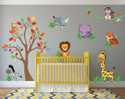 safari wild animals wall decal jungle wall decal animal wall