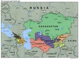 asia map and countries geostrategy in central asia and map countries